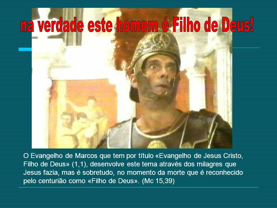 O Evangelho de Marcos que tem por título «Evangelho de Jesus Cristo, Filho de Deus» (1,1), desenvolve este tema através dos milagres que Jesus fazia,