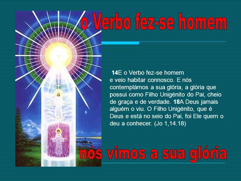 14E o Verbo fez-se homem e veio habitar connosco. E nós contemplámos a sua glória, a glória que possui como Filho Unigénito do Pai, cheio de graça e d