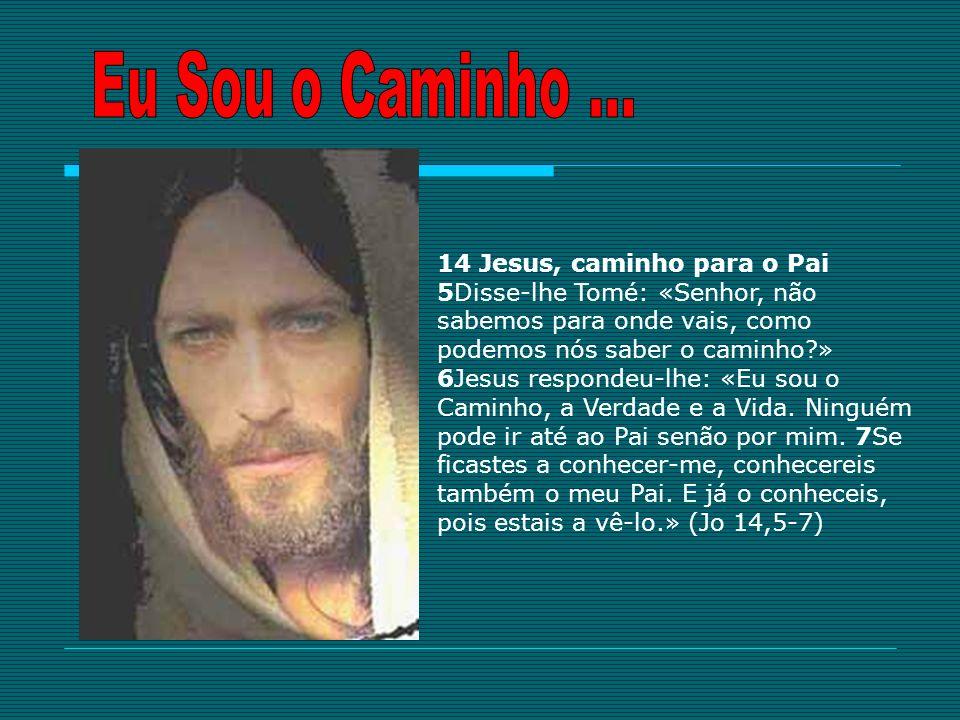 14 Jesus, caminho para o Pai 5Disse-lhe Tomé: «Senhor, não sabemos para onde vais, como podemos nós saber o caminho?» 6Jesus respondeu-lhe: «Eu sou o