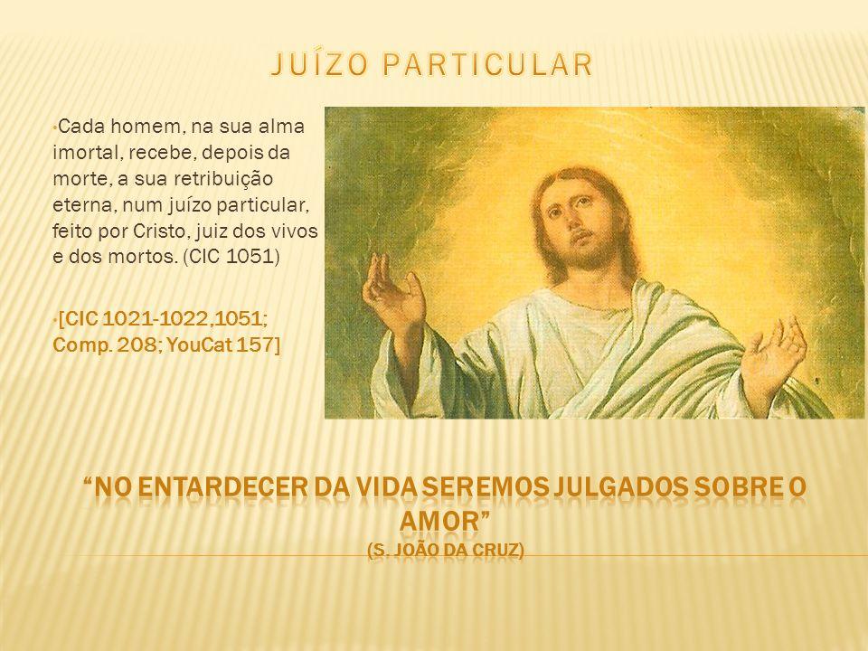 Cada homem, na sua alma imortal, recebe, depois da morte, a sua retribuição eterna, num juízo particular, feito por Cristo, juiz dos vivos e dos morto