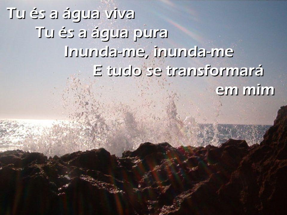 Tu és a água viva Tu és a água pura Inunda-me, inunda-me E tudo se transformará em mim Tu és a água viva Tu és a água pura Inunda-me, inunda-me E tudo