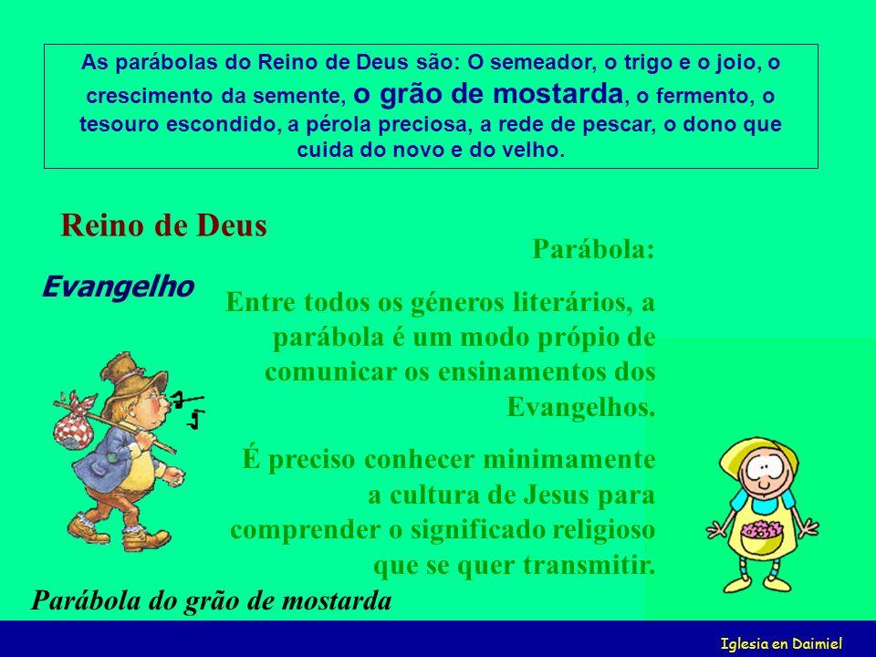 Iglesia en Daimiel Parábola: Entre todos os géneros literários, a parábola é um modo própio de comunicar os ensinamentos dos Evangelhos.