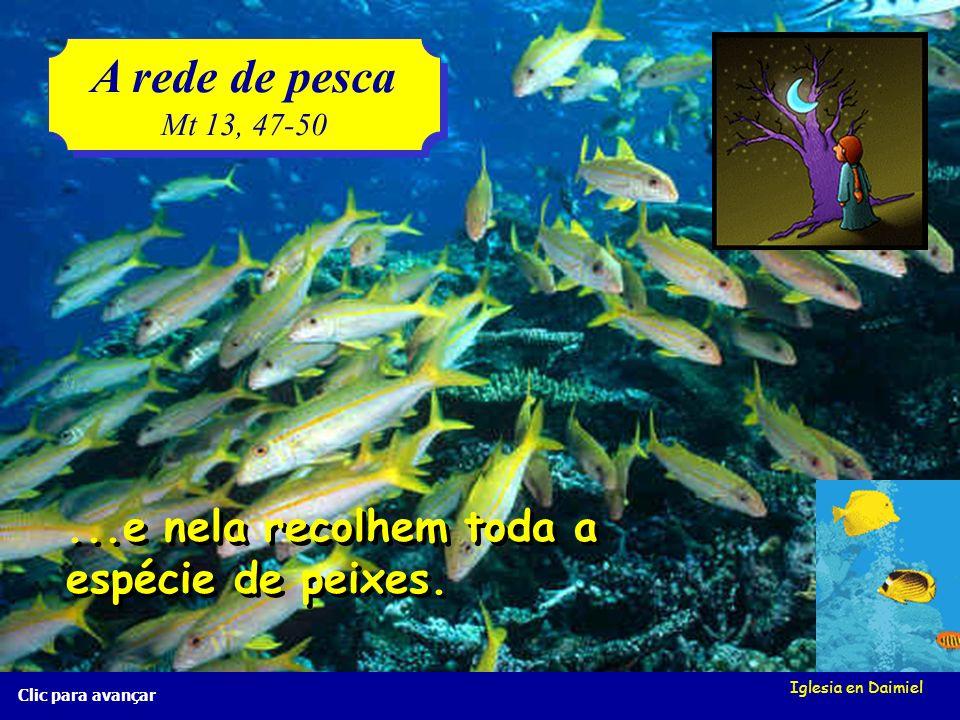 Iglesia en Daimiel A rede de pesca Mt 13, 47-50 A rede de pesca Mt 13, 47-50 Clic para avançar O pescadores lançam a rede ao mar... O pescadores lança