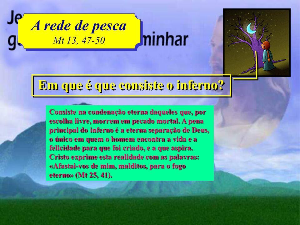 Iglesia en Daimiel A rede de pesca Mt 13, 47-50 A rede de pesca Mt 13, 47-50 Clic para avanzar O que é o purgatório? O purgatório é o estado dos que m