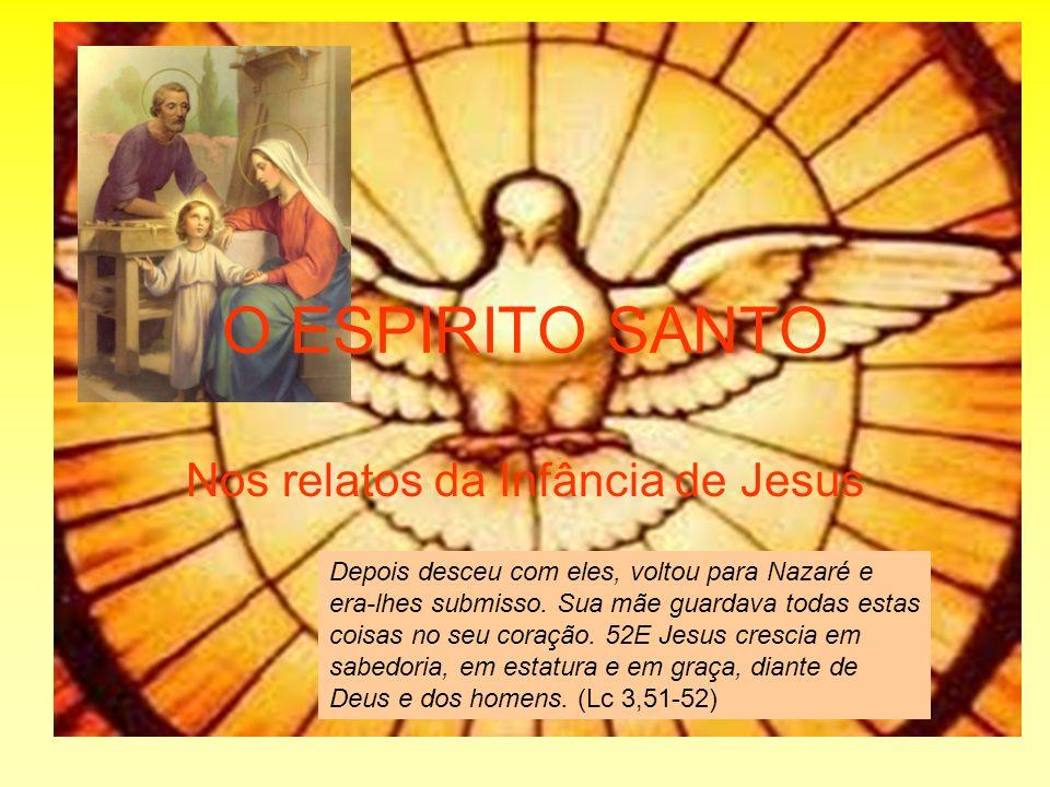 O ESPIRITO SANTO Nos relatos da Infância de Jesus Depois desceu com eles, voltou para Nazaré e era-lhes submisso. Sua mãe guardava todas estas coisas