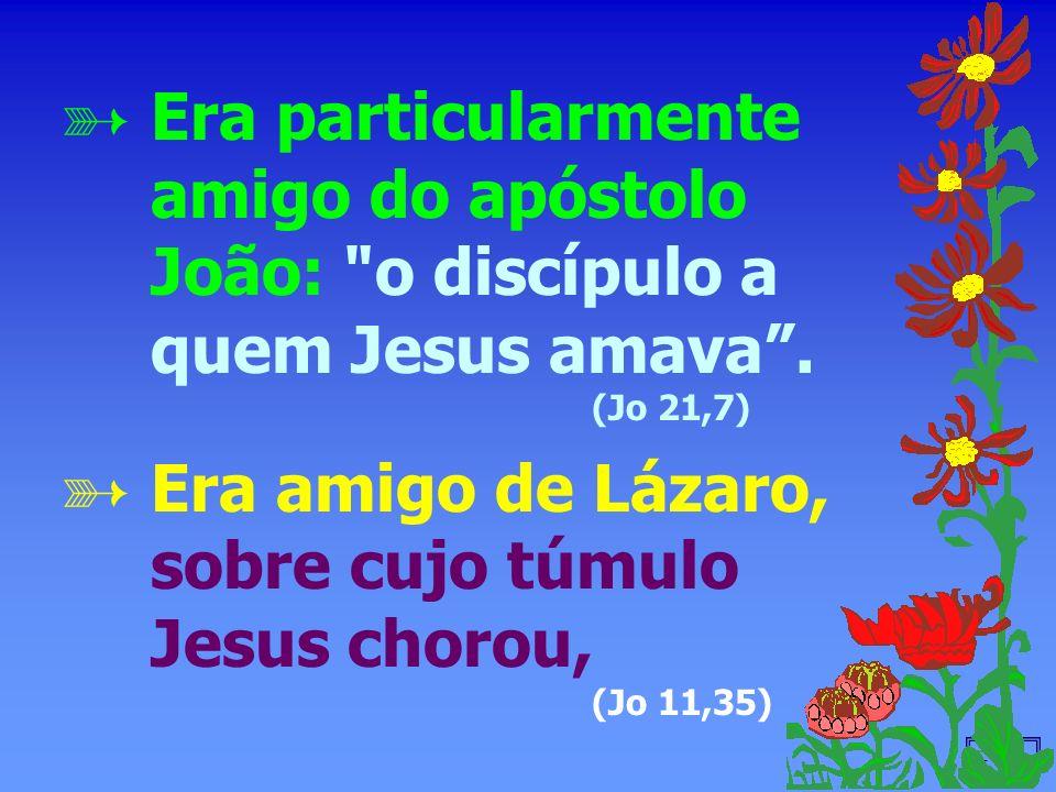 - 16 - Era particularmente amigo do apóstolo João: o discípulo a quem Jesus amava.