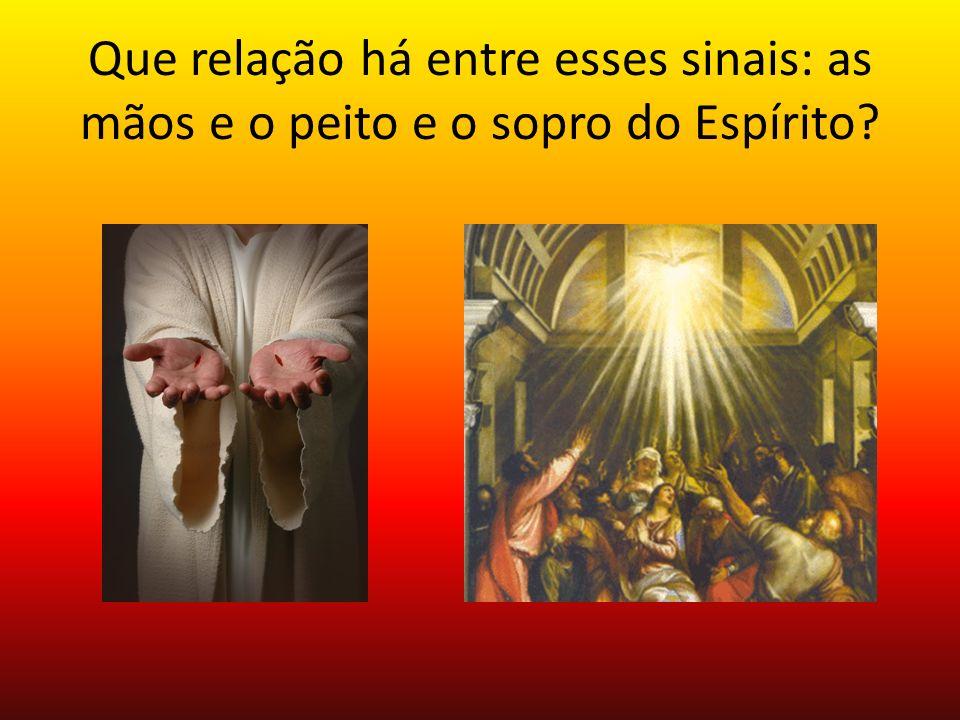 Que relação há entre esses sinais: as mãos e o peito e o sopro do Espírito?