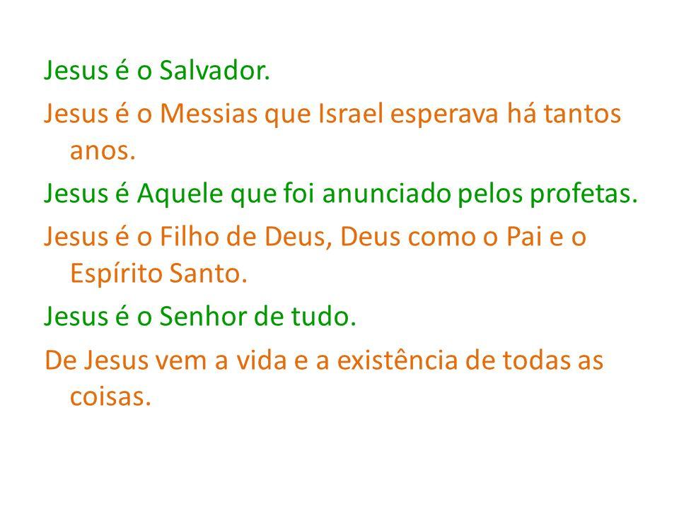 Jesus é o Salvador. Jesus é o Messias que Israel esperava há tantos anos. Jesus é Aquele que foi anunciado pelos profetas. Jesus é o Filho de Deus, De