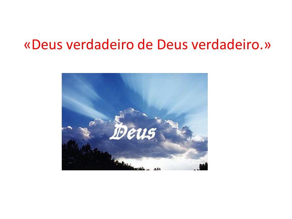 «Deus verdadeiro de Deus verdadeiro.»