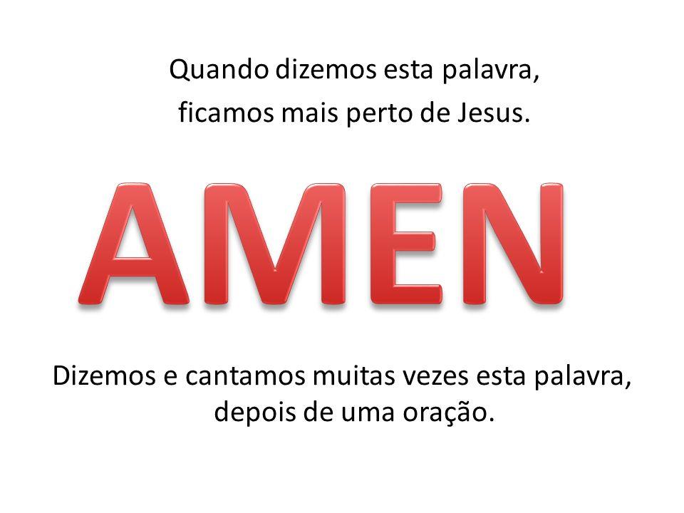 VAMOS REZAR Em nome do Pai, do Filho e do espírito Santo.