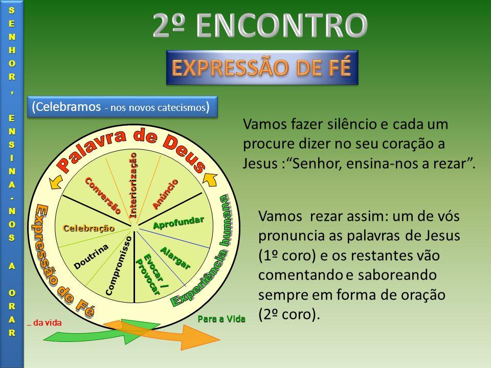 (Celebramos - nos novos catecismos ) Evocar / Provocar Alargar Aprofundar Anúncio Interiorização Conversão Celebração Doutrina Compromisso … da vida P