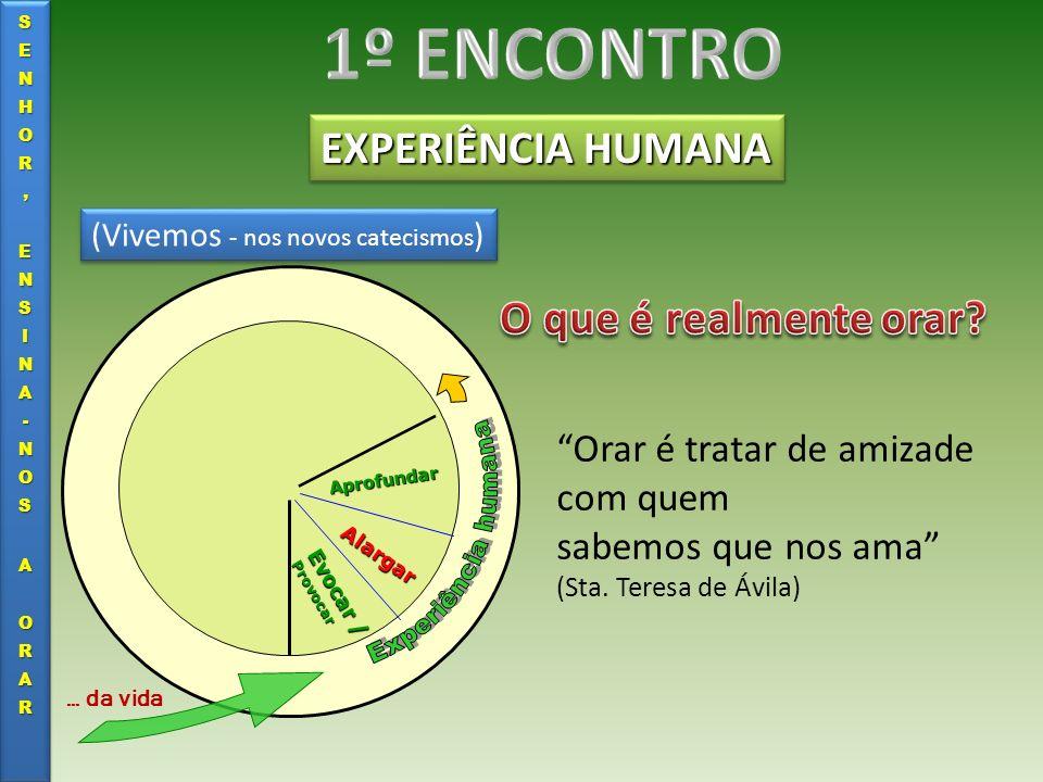 EXPERIÊNCIA HUMANA Evocar / Provocar Alargar Aprofundar … da vida …tenho problemas.