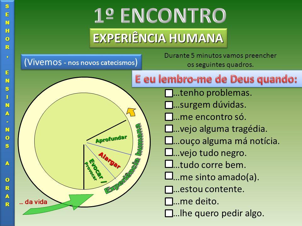 EXPERIÊNCIA HUMANA Evocar / Provocar Alargar Aprofundar … da vida Sempre o fiz.