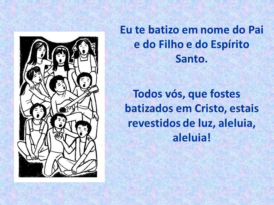Todos vós, que fostes batizados em Cristo, estais revestidos de luz, aleluia, aleluia!