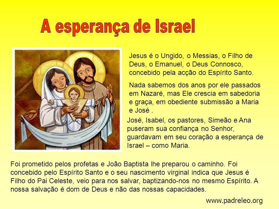 Jesus é o Ungido, o Messias, o Filho de Deus, o Emanuel, o Deus Connosco, concebido pela acção do Espírito Santo. Nada sabemos dos anos por ele passad