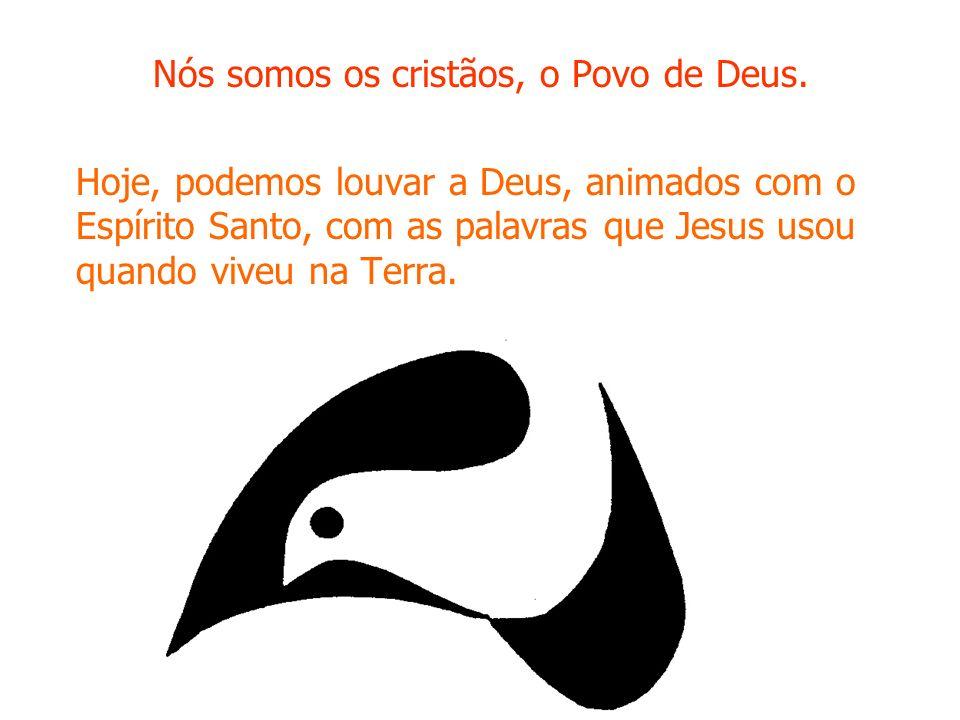 Nós somos os cristãos, o Povo de Deus. Hoje, podemos louvar a Deus, animados com o Espírito Santo, com as palavras que Jesus usou quando viveu na Terr