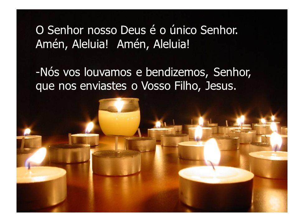 O Senhor nosso Deus é o único Senhor. Amén, Aleluia! -Nós vos louvamos e bendizemos, Senhor, que nos enviastes o Vosso Filho, Jesus.