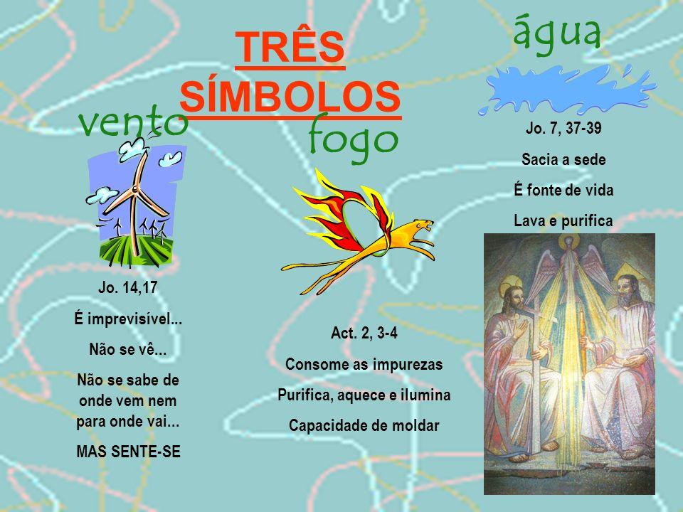 EM JEITO DE CONCLUSÃO 1.O Espírito é a terceira pessoa da Santíssima Trindade.
