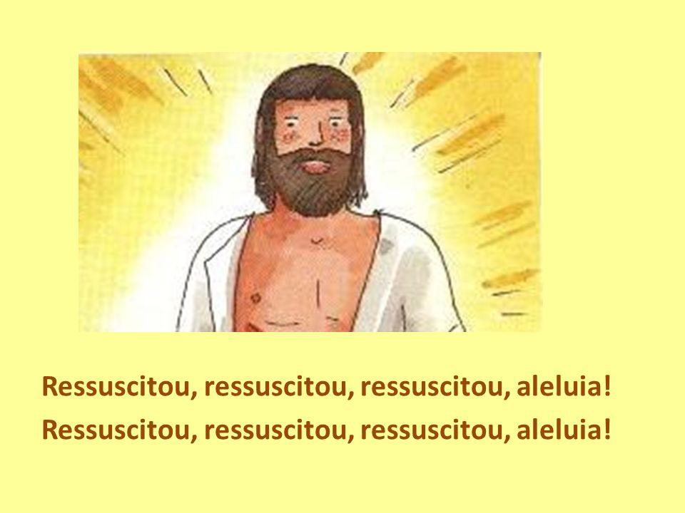 Ressuscitou, ressuscitou, ressuscitou, aleluia!