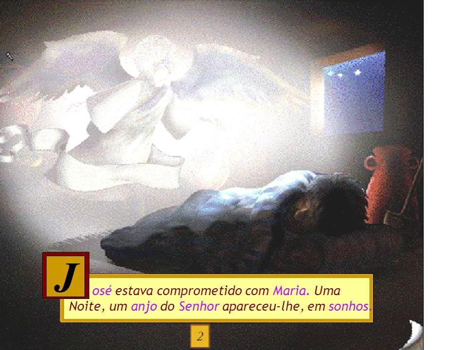 á muito tempo, vivia na cidade de Nazaré uma jovem, chamada Maria. Um dia, Maria recebeu a visita de um Anjo, Gabriel. H