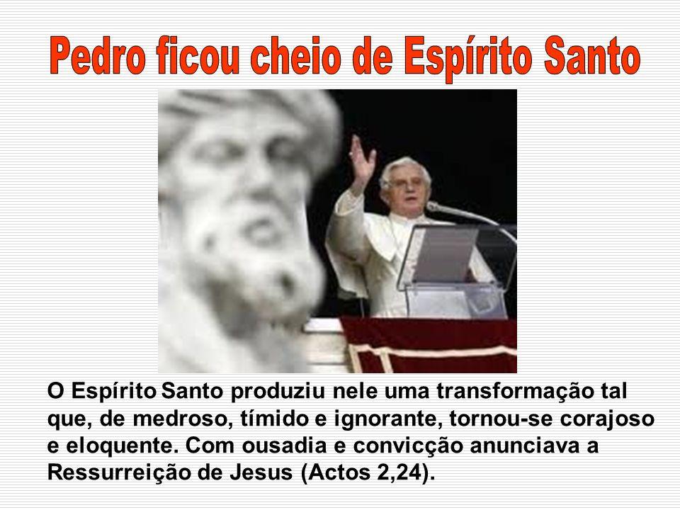 O Espírito Santo produziu nele uma transformação tal que, de medroso, tímido e ignorante, tornou-se corajoso e eloquente. Com ousadia e convicção anun