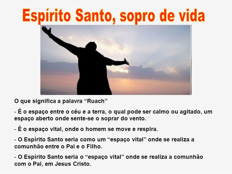 Não foi o Espírito Santo a dar o nome ao vento, foi o vento a dar o nome ao Espírito Santo.