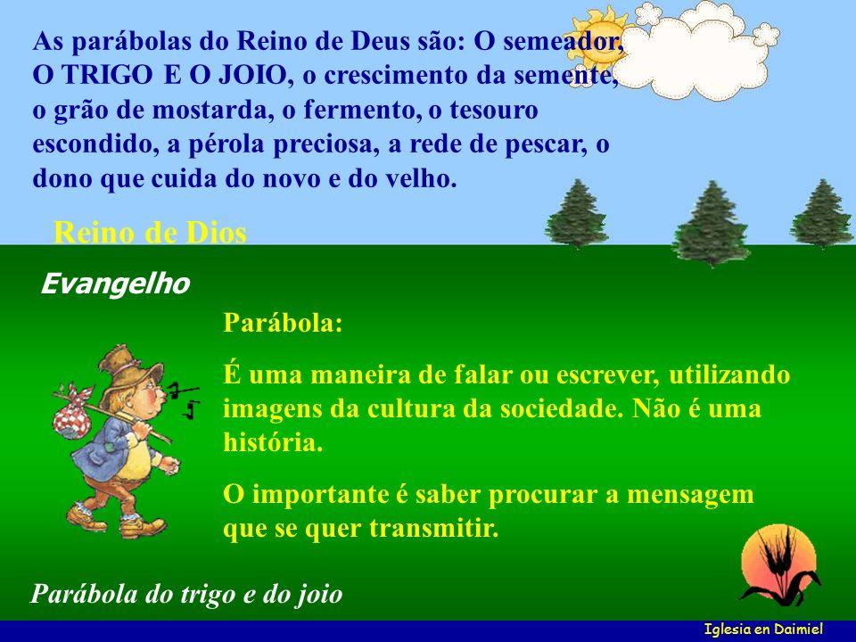 Parábola: É uma maneira de falar ou escrever, utilizando imagens da cultura da sociedade.