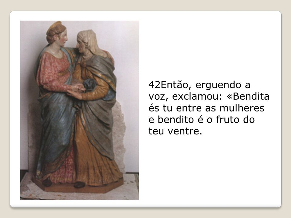 Maria acabou de receber a noticia de que foi escolhida para se tornar a mãe do FILHO DO ALTÍSSIMO.