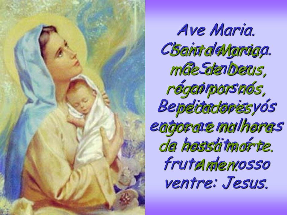 Jesus enviou uns anjos que despertaram a Virgem Maria e a levaram com grande alegria para o Céu. Os anjos fizeram uma grande festa. E Deus coroou E De