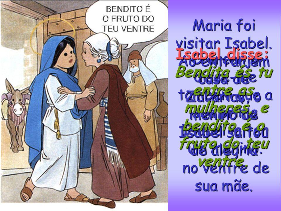 Maria vivia em Nazaré. Era uma rapariga prometida em matrimónio a um jovem chamado José. Um dia o arcanjo Gabriel, foi enviado por Deus a o arcanjo Ga