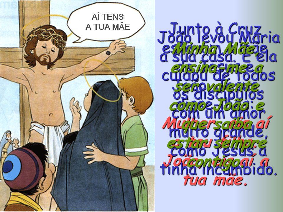 Os sumos sacerdotes entregaram Jesus a Pilatos para que o condenasse a morrer na Cruz. Quando Jesus carregava com a Cruz a caminho do Calvário, Maria