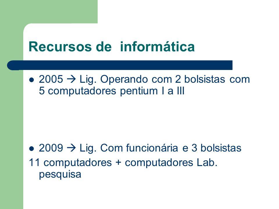 Recursos de informática 2005 Lig.
