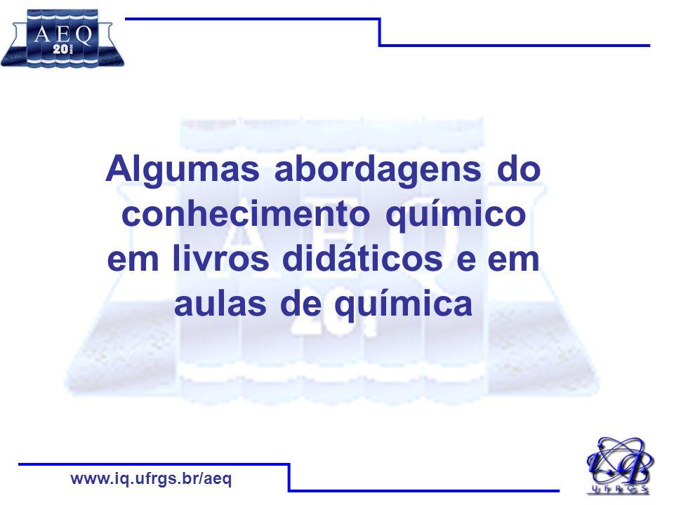 www.iq.ufrgs.br/aeq Modelo didático referenciado nas concepções e interesses dos estudantes