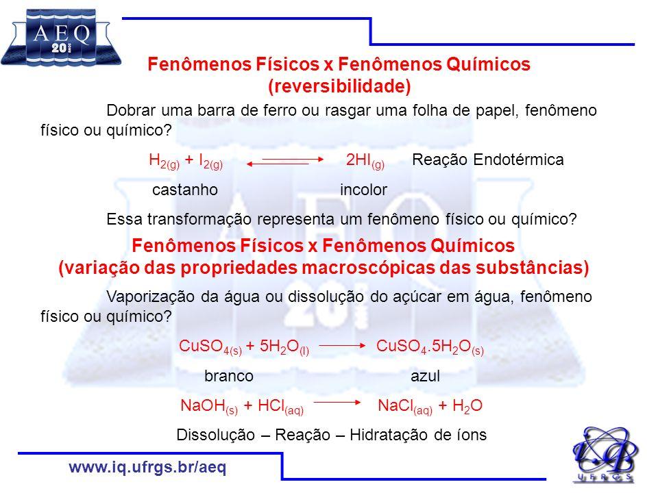 www.iq.ufrgs.br/aeq Rede Conceitual de Ácidos e Bases Ácidos são espécies que, ao reagirem com água, produzem como íon positivo apenas o H 3 O +.