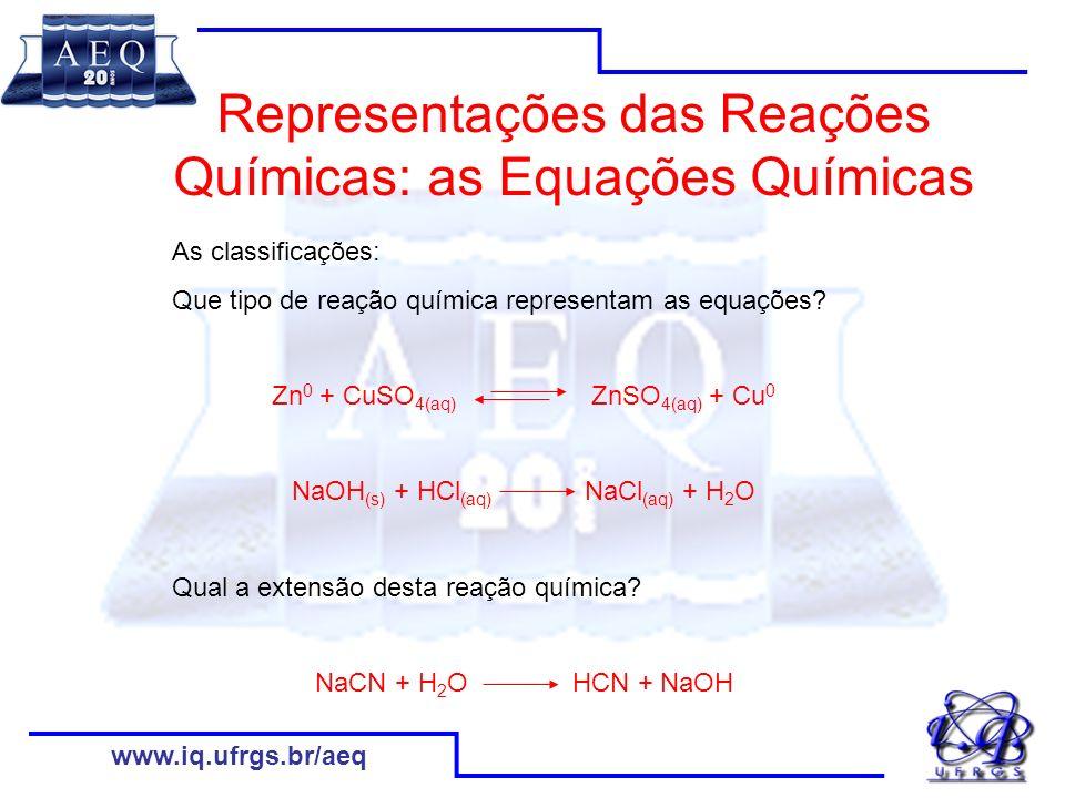 www.iq.ufrgs.br/aeq Aluna 1: Aconteceu que as partículas que aumentaram de tamanho.