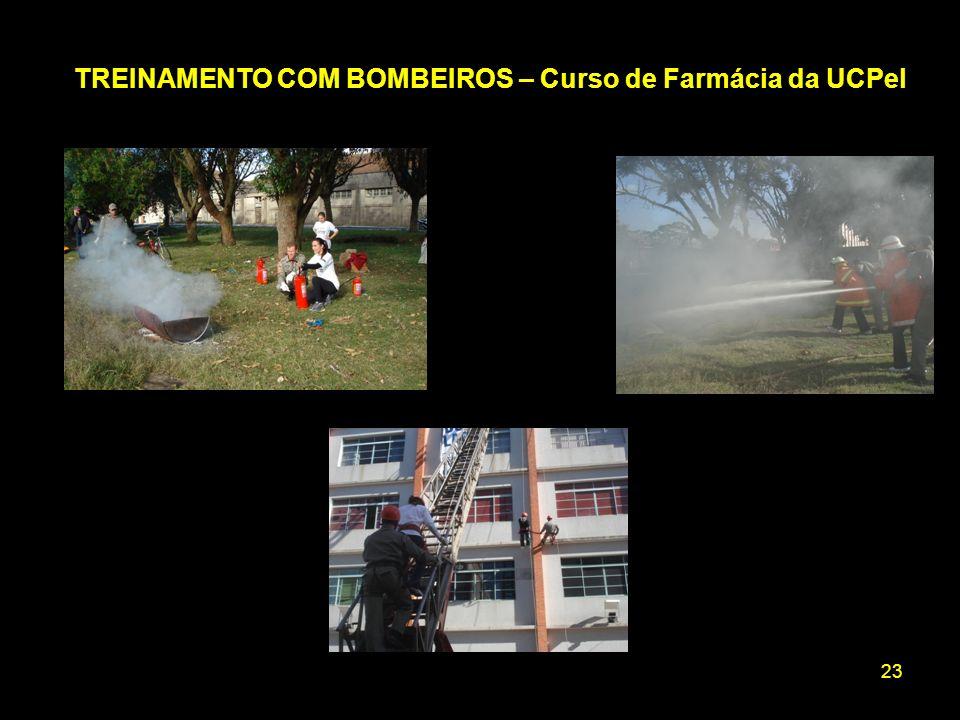 23 TREINAMENTO COM BOMBEIROS – Curso de Farmácia da UCPel