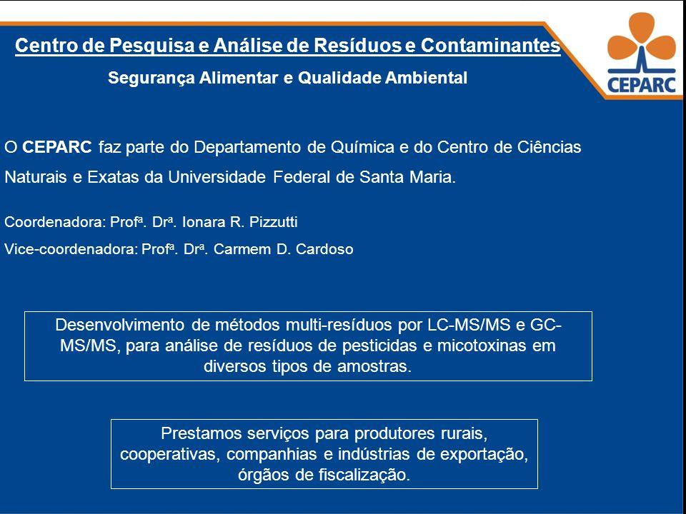 41 Centro de Pesquisa e Análise de Resíduos e Contaminantes Segurança Alimentar e Qualidade Ambiental O CEPARC faz parte do Departamento de Química e