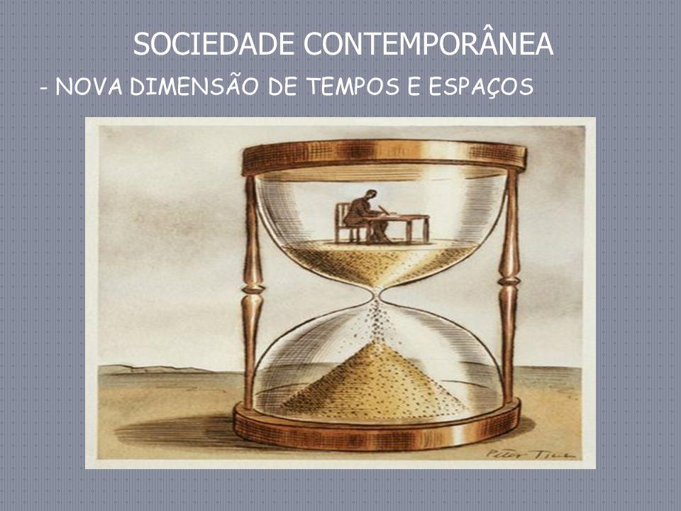 SOCIEDADE CONTEMPORÂNEA - NOVA DIMENSÃO DE TEMPOS E ESPAÇOS