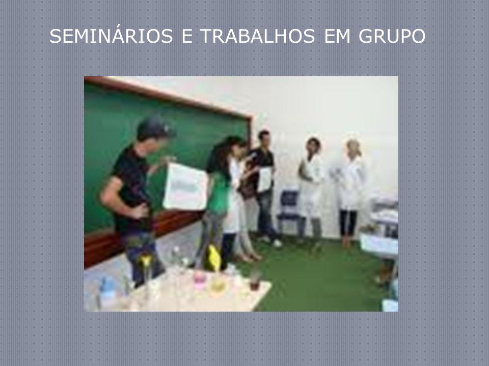 SEMINÁRIOS E TRABALHOS EM GRUPO