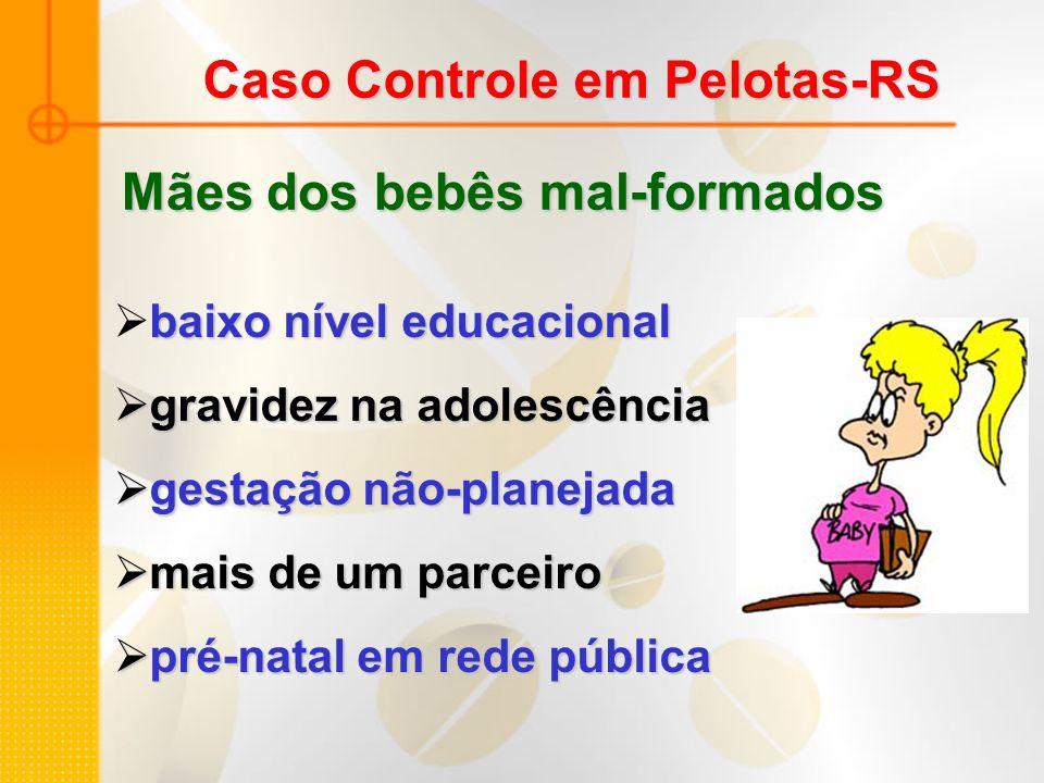 Caso Controle em Pelotas-RS baixo nível educacional gravidez na adolescência gravidez na adolescência gestação não-planejada gestação não-planejada ma
