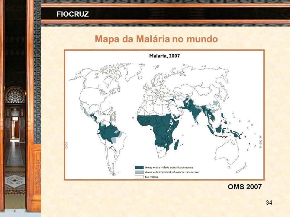 34 FIOCRUZ Mapa da Malária no mundo OMS 2007