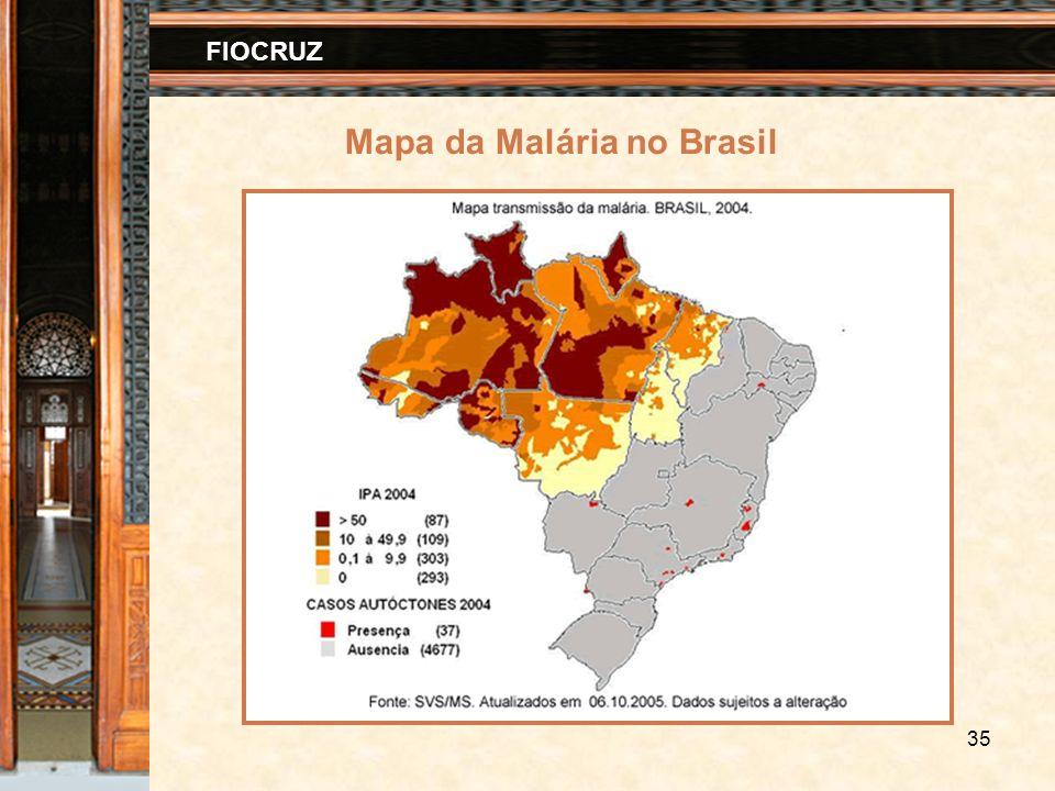 35 FIOCRUZ Mapa da Malária no Brasil