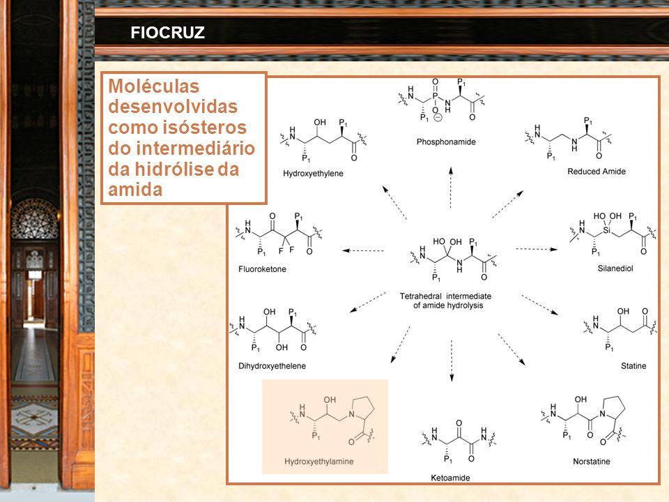 41 FIOCRUZ Moléculas desenvolvidas como isósteros do intermediário da hidrólise da amida