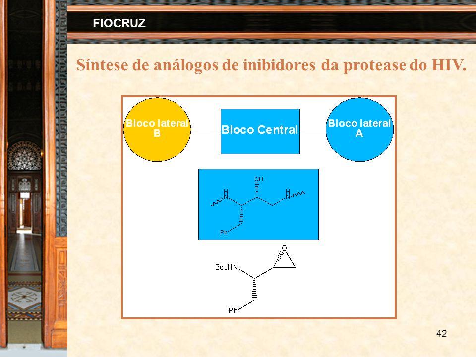 42 FIOCRUZ Síntese de análogos de inibidores da protease do HIV.
