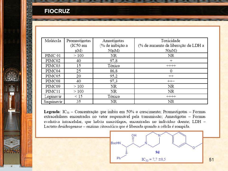 51 FIOCRUZ Ph BocHNN OHN IC 50 = 7,7 ± 0,5 9d O
