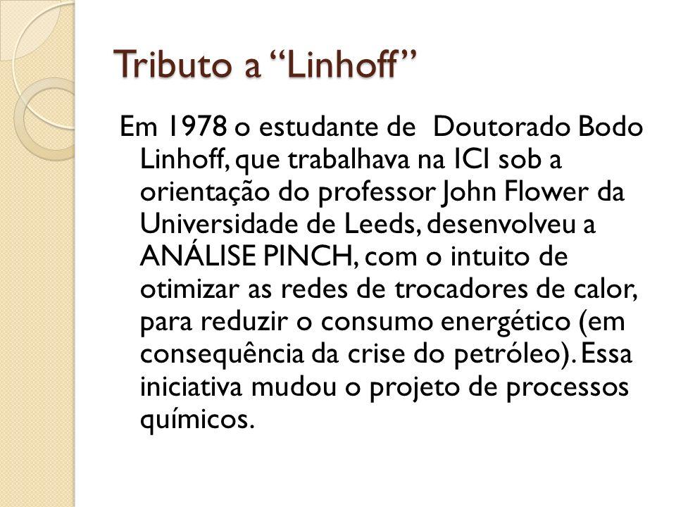 Tributo a Linhoff Em 1978 o estudante de Doutorado Bodo Linhoff, que trabalhava na ICI sob a orientação do professor John Flower da Universidade de Le