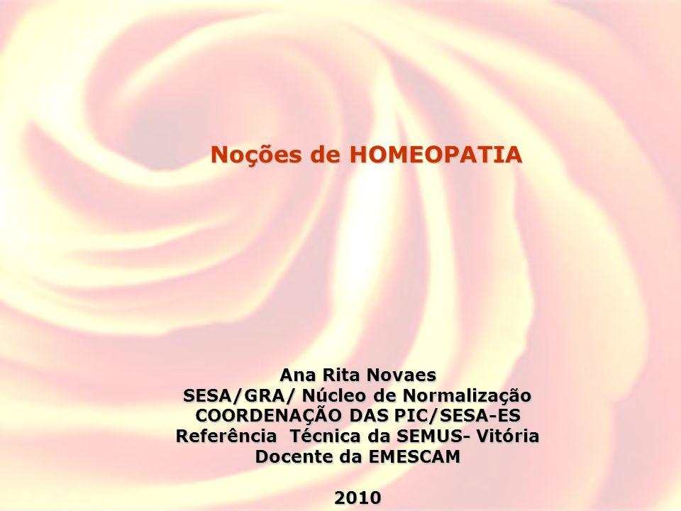 1)O que é a Homeopatia.2)Por quem e como foi desenvolvida.