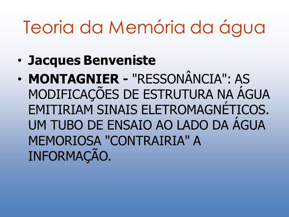 Teoria da Memória da água Jacques Benveniste MONTAGNIER -