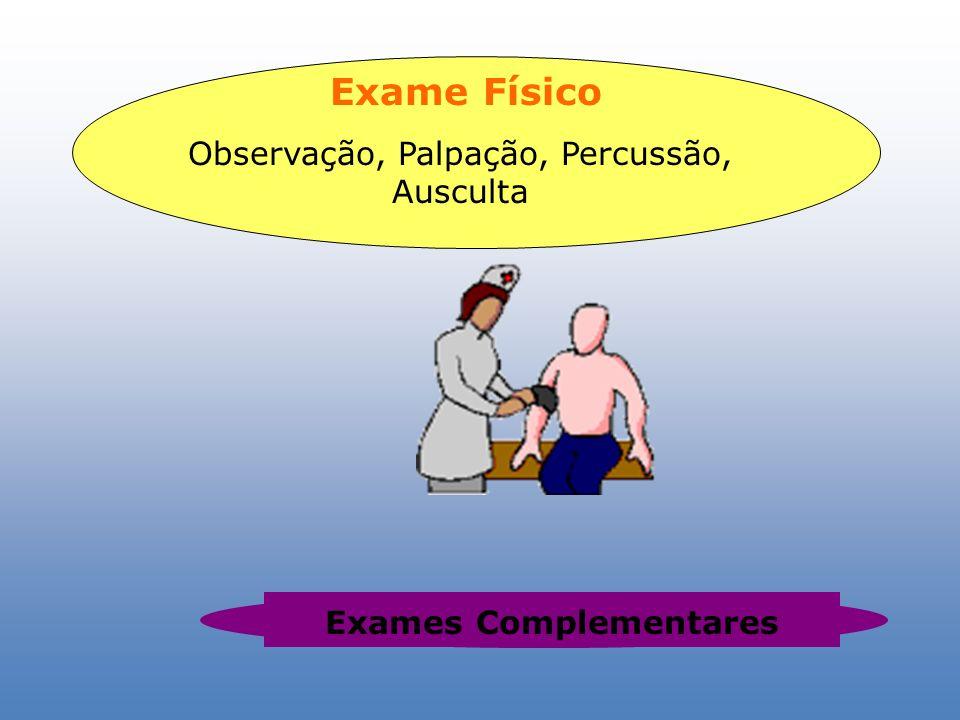 Exame Físico Observação, Palpação, Percussão, Ausculta Exames Complementares