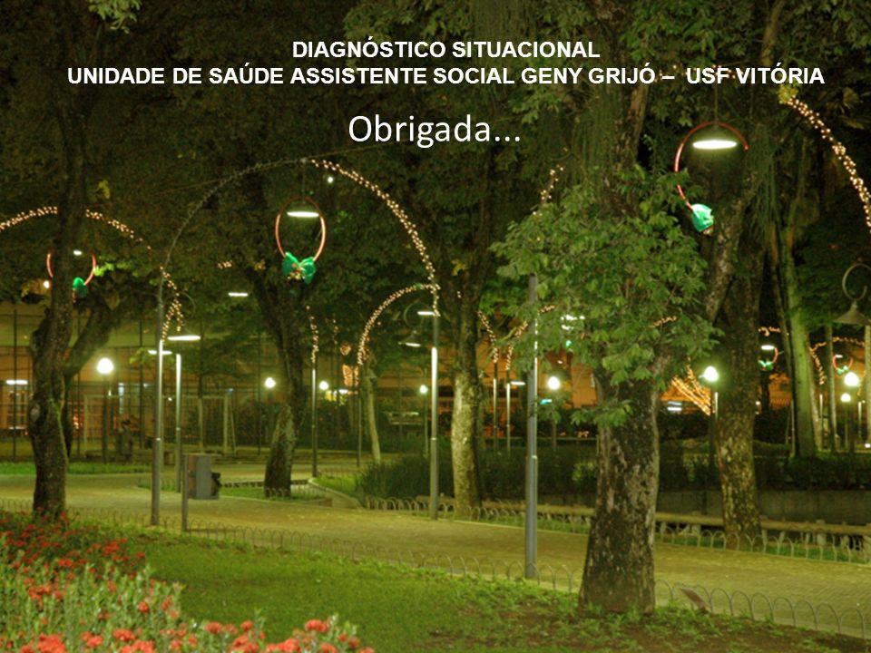 Obrigada... DIAGNÓSTICO SITUACIONAL UNIDADE DE SAÚDE ASSISTENTE SOCIAL GENY GRIJÓ – USF VITÓRIA